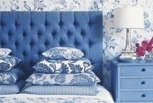 Blue Decor / Decor ideas and inspiration in shades of blue.