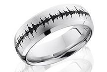 """Soundwave Rings / We've teamed up with one of the premier manufacturers of performance and precious metal bands. With the most experienced people and the finest technology in the industry, we are thrilled to offer you: Soundwave Rings! These completely custom rings are perfect for wedding vows, saying """"I Love You"""" or even having your child's heartbeat pattern engraved to keep around your finger forever! Design yours at soundwaveart.com"""