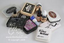 Ink - tamponi - stamp  / Tamponi/stampini tutto ciò che serve per timbrare