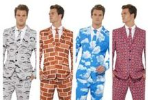 Stand Out Suits / It is all the new craze to stand out at any party in these bright patterned suits.