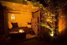 Avondbeeld tuinen - tuinverlichting / Soms is de tuin 's avonds nog mooier dan overdag! Oordeel zelf... www.buytengewoon.nl