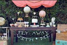 Hot Air Balloon Dessert Tables