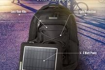 ☀ S O L A R ☀ Backpacks / The SunnyBAG EXPLORER 2 solar backpack offers the possibility of mobile energy supply in every situation in life.   BE INDEPENDENT. BE ENERGIZED.  Take in hand your own life and environment! SunnyBAG makes you finally fully independent. SunnyBAG recharges your mobile devices (smartphone, tablet, action cam...) wherever and whenever ☀ with solar energy!