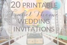 Travel Weddings / Destination Weddings + Travel themes.