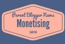 Monetising Your Blog / Everything you need to start making an income from your blog. Information on advertising, affiliate schemes, ambassador roles and creating ebooks and courses from successful bloggers. / by Parent Blogger News