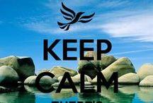 keep calm / manten la calma
