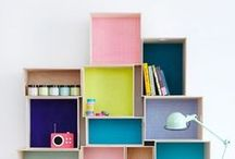 Children's Books Organization and Storage / Bookshelves, Reading Nooks, and Storage Ideas | Inspiration for designing a kids reading nook or reading corner in a bedroom or living room | DIY bookcase ideas | Easy organization for kids books | Children's Book Storage Solutions