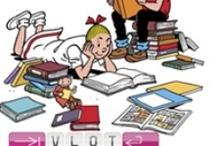 Lezen is leuk / Lezen is leuk! Allerlei karakters uit kinderboeken en -films die lezen.