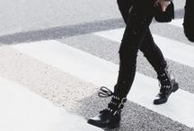 walk walk away / ((mostly)) korean street style. airport fashion. monochrome. layers. A/W.