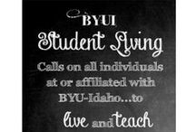 BYU-Idaho Student Living / Here are some fun visuals that explain what student living is all about!  / by BYU-Idaho Student Living