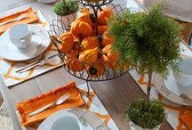 Using Orange and White