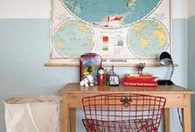 Children's Workspace / It's important to create and prepare a place where children can be focused.  Whether they are working on their homework, playing a game, journaling or crafting, having their own work space can help to cultivate a sense of independence, interest in activity and maturity.  These are some ideas and looks we love!