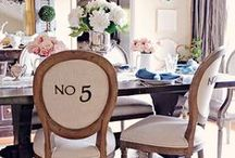 Dining Room Inspiration / While there is a definite shift away from the separate, more formal dining room to an open floor plan and shared living/dining room, these are a few of our top picks for gorgeous dining rooms!
