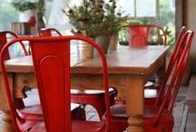 Red / Red is tricky; it's bold, it's bright and it fights for attention, wherever it's used.  It can be a challenging color to use in the home, but here are some examples of red that we think work!