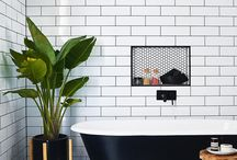 Room ~~ Classic Bathrooms / Classic bathrooms with a timeless aesthetic and vintage nostalgia.