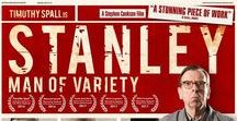 Stanley a Man of Variety, / Stanley, a Man of Variety is about a middle aged man who enjoys watching classic British films and TV shows from the 1960/70s.  He soon finds himself in prison for a crime that he believes he didn´t commit and after many years in solitary confinement he begins to talk to his comedy heroes from the past as each one tries to help him remember.  Spall plays all 15 characters in the nightmarish tale of a man stuck in prison, riddled with delusions and hallucinations.
