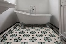 Tessellated Bathrooms / Tessellated geometric and Victorian tiles in beautiful period style bathrooms.