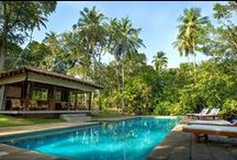 The River House -Balapitiya / Tucked away in its sequestered nook, The River House epitomizes sheer seclusion. On the banks of the Madhu Ganga with its lush tropical garden this artistic escape tells the story of the islands many traditions..