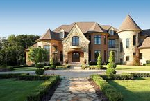 FRENCH COUNTRY HOME - VanBrouck & Associates / Our Country French home designs and plans are created with authentic old world details with beautifully proportioned dormers, shutters, flower boxes and chimneys.