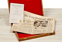 Birthday Newspapers / Original Birthdate Newspapers make very special personal keepsakes, making them an ideal gift for any birthday date. Search the world's largest archive now by entering any date of birth to see the full range of perfectly preserved titles available. Every Birthday Newspaper Gift is guaranteed to be a genuine original, and includes a Personalised Certificate of Authenticity, with optional gift presentation options.