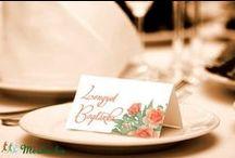 WEDDING DECOR / Wedding decor, Esküvői dekor, Rustic Wedding, Rusztikus Esküvő, Wedding DIY, Wedding Cards, Wedding place cards, wedding fingerprint tree, ujjlenyomatfa, ültetőkártya, menü