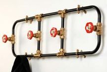 Plumbing Supply Decor / Some great ways to incorporate old plumbing supplies or new to create home decor!