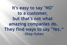 We ♥ Our Customers! / Interesting items from our blog, quotes we believe in and business practices we value.