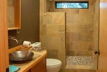 Small Bathroom Inspiration / Old houses or new, most of us have at least one small, standard bathroom. Find inspiration here for making the best of your small space.