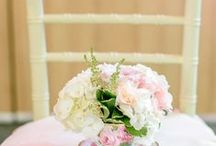 rustic french vintage wedding styled shoot / Rose + Gold + Blush + Moss