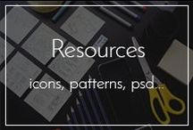 Design Resources / Collection of icons, patterns, backgrounds, textures, PSD, AI.