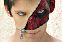 Zipper Face / Pictures of creepy, scary, disgusting zipper face makeovers. Popular idea for Halloween.