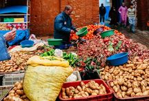 Street Shops, Sellers & Food Markets Around the World