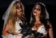 Zombie Brides / Get ready for your Big Day (the zombie apocalypse) with these zombie bride costume ideas.