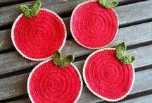 Knitting Coaster / Knitting. Handmade