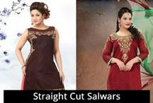 Straight Cut Salwars / Buy Straight Cut Designer Salwar Suits Online - Sudarshan Family Store, Chickpete