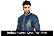 Men's Indowestern Set / Find latest Indo Western clothing for Men at Sudarshanfamilystore.com. Visit now Sudarshan Family Store, Chickpete .
