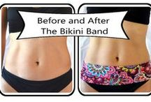 Bikini Band / How confident are you in your bikini? Bikini Bands cover that hard to tame bottom belly area and expand your bikini wardrobe by attaching to your existing bikini bottom.  Go ahead ladies, ROCK YOUR BIKINI.