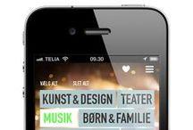 DESIGN // Kultur-App vom Öresundskomitee / Die Aufgabe: Eine APP des Öresundskomittee für alle Interessierten, die nach Events im Raum Kopenhagen/Malmö suchen.