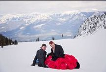 Mountain Snowboarding wedding / #winterwedding #wedding #KHMR #snowboardwedding #weddingdecor #kickinghorseresort #kickinghorsemountainresort #skibc #winterwedding #snowboarding #brideandgroom