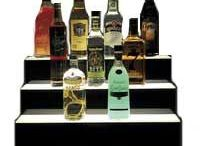 Food Liquor - Acrylic / Wholesale bulk food dispensers, bakery cases, ice cream cone holders, liquor bottle displays, food trays, stack-able bins and sneeze-guards. Email: sales@displayit-info.com  Website:  http://www.displayit-info.com