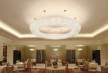 Fook Lam Moon Restaurant Macau / The models Aires 100 in cynite grey, Ugolino circular 90, Ugolino oval 180, Ugolino slim 180, Ugolino system circular custom diameter 3 meters, are our #chandeliers chosen by the famous Cantonese restaurant Fook Lam Moon in Hong Kong for its new opening in #Macau. Lighting project consultant: Tony Luk Supplied by Andante Hong Kong