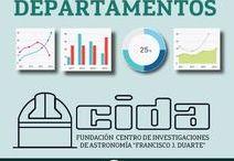 ESTADÍSTICAS FUNDACIÓN CIDA / Estadísticas de las actividades y proyectos de los diferentes departamentos de la Fundación Centro de Investigaciones de Astronomía CIDA.  Mérida-Venezuela