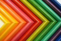 Design in Color / Colorful art and framing ideas