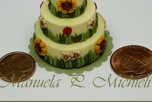 Manuela P. Michieli - My challenge to miniaturize cakes / These are some 1:12 replica cakes I made