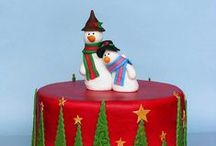 Christmas Cakes, cookies and cupcakes / Chrismas themed sweets