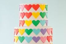Rainbow Cakes / all the colours on one cake