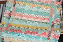 "strip quilts / Strip quilts are great to make and even better to cuddle with! Most of these quilts use 2 1/2"" strips."