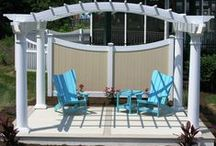 Pergola / Today's class tells yesterday's story... don't leave your home or yard without a stylish Pergola! Make outside your home your storybook!