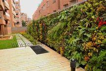 Jardín Vertical residencial 1.78 en Bogotá / Este Jardín Vertical está ubicado en el nororiente de la ciudad de Bogotá,  tiene 30 metros de largo por 2.5 metros de alto, 75 metros cuadrados de muro verde, con un total de 20 especies distintas,un ecosistema vertical de alto valor botánico con un cromatismo muy marcado y variaciones estacionales notables. Una vez más, nuestros compañeros de Groncol, están a la altura con el uso de nuestro sistema patentado.