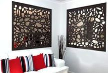 Screens & Lounges / Laser cut screens can be used as dividers, sliding doors, sunscreens, or wall art. They can be custom designed, cut, and colored to suit any interior decorating aesthetic. Here is a collection of lounge and living rooms we admire along with a few of our lounge room screen installations. ~QAQ